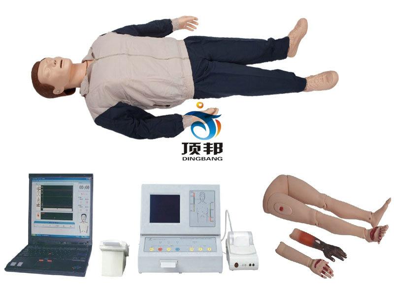 液晶彩显高级全自动电脑心肺复苏模拟人(IC卡)